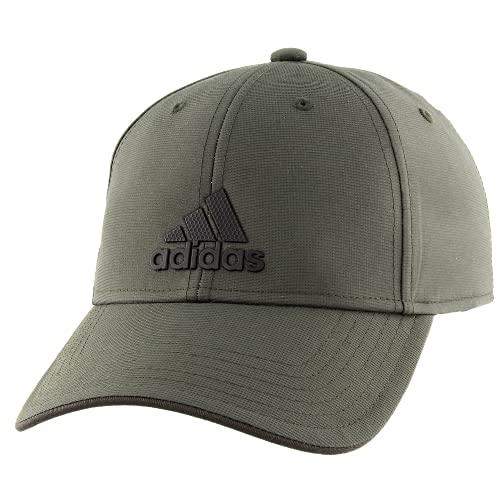 adidas - Gorra Ajustable para Hombre, Hombre, Gorro/Sombrero, 976237, Legend Earth Verde/Negro, Talla única
