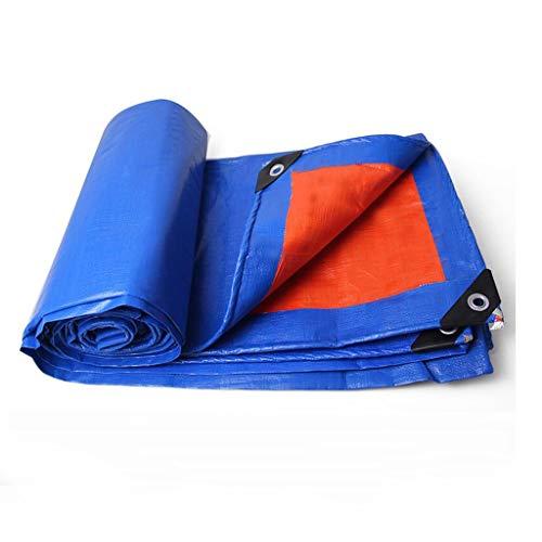 CKH Tissu antipluie Isolation Épaississante Tissu Imperméable Bâche de Protection Solaire Imperméable Tissu Auvent PC Bâche de Camion Poncho Orange Bleu (Size : 3 * 5 Meters)
