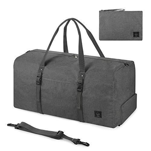 GAGAKU 70L Faltbare Reisetasche mit Schuhfach Travel Duffle Bag Ultraleicht Handgepäck