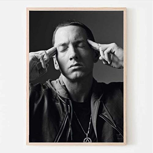 lubenwei Eminem Poster Canvas Rapper Star Collage Posters and Prints Art Wall Pictures Living Room Home Decor 40x50cm No frame AW-2536