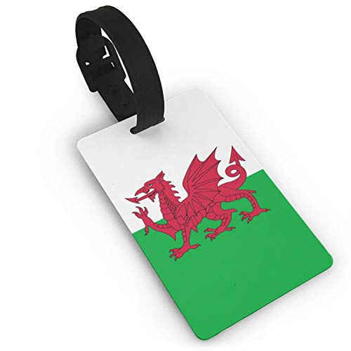 Wales Welsh Dragon PVC Luggage Tags Personalized Suitcase Tag Set Luggage id Tags Labels Travel Accessories