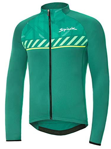 Spiuk Sportline Top Ten Maillot M/L, Hombres, Verde