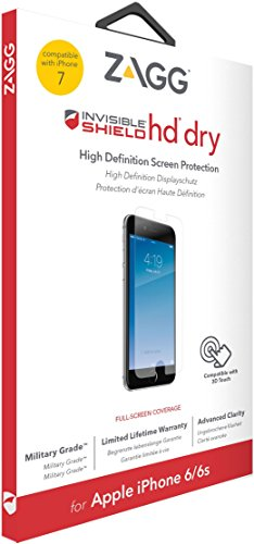 invisibleSHIELD Zagg IP7HDS-F00 HD Dry Protector de Pantalla para iPhone 7