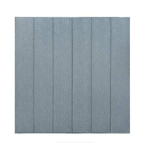 Wall Panels 10 Planken Moderne 3D Selbstklebende Holzkornwandplatten Schalldämmung wasserdichte Anti-Collision Wände geeignet für Innenraum (Color : Gray)