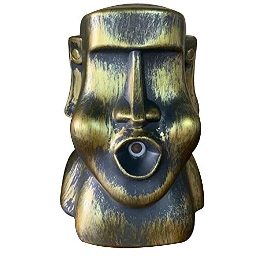 Mxhuc Humidificador, ambientador natural, difusor interesante de estatuas de Moai Humidifier Natural Home Fragrance Difusor Interesting Moai Estatues Humidifier, 14 x 10 x 18 cm