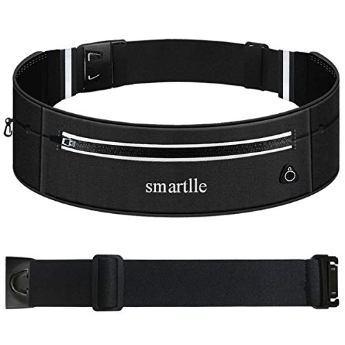Smartlle Running Belt, Fanny Pack, Adjustable Waist Bag Pouch for iPhone 11/11 Pro/11 Pro Max/XR/XS Max/XS/X/8 7 6S Plus, Samsung Galaxy S/Note/A, Moto, all mobiles up to 6.7'' for Men and Women