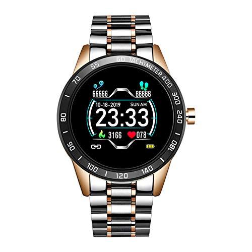 WEINANA Mode Smart Watch Männer LED-Bildschirm Herzfrequenzmesser Blutdruck Fitness Tracker Sportuhr Wasserdichtes Armband(Color:C.)