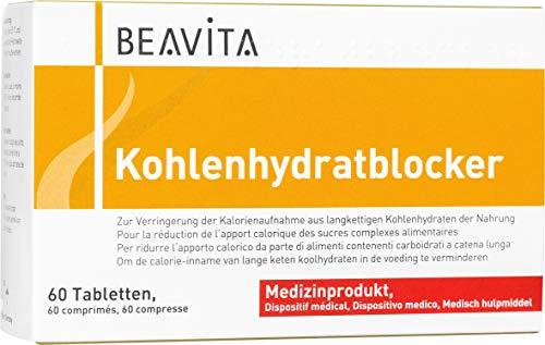 BEAVITA Carb Blocker - 60 compresse - Blocca carboidrati e riduce l'apporto calorico per dimagrire - Soppressore dell'appetito a base di principi attivi naturali - Capsule dietetiche