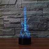 20 Couleurs Changeantes 3D Lampe De Table Led Guitare Électrique Instruments De Musique Veilleuse Usb Chambre Éclairage Décor À La Maison Musique Cadeaux