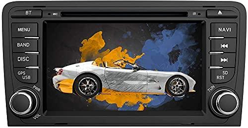 AWESAFE Autoradio mit Navi für Audi A3 Unterstützt DAB+ CD DVD SD USB Bluetooth MirrorLink Lenkradsteuerung Doppel Din RDS Radio