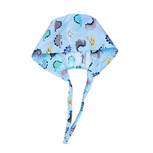 PRETYZOOM Doctor verpleegkundige Scrub Cap Chirurgische Hoed Medische Uniform Turban Cap Ziekenhuis Medische Hoed Chirurgie Hoed Blauw Size 1 Afbeelding 1