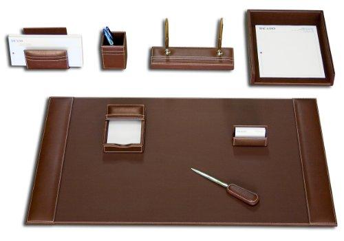 Dacasso Schreibtisch-Set, rustikal braun, 8-teilig