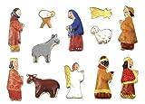 Set di Formine per Biscotti di Presepe di Natale - 12 pezzi - Stampi Coppapasta per Biscotti, Tartine, Decorazioni in Pasta da Zucchero e Cake Design