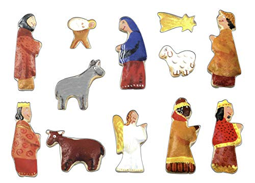 Grizzly Set di Formine per Biscotti di Presepe di Natale - 12 Pezzi - Stampi Coppapasta per Biscotti, Tartine, Decorazioni in Pasta da Zucchero e Cake Design