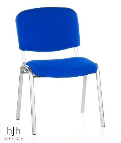 hjh OFFICE Buerostuhl24 668825 Konferenzstuhl/Besucherstuhl XT 500 4-er Pack / 4 Stühle, blau/Silber