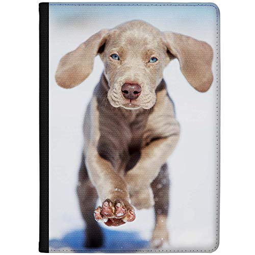 Azzumo Running Blue Eyed Weimaraner Puppy Faux Leather Case Cover/Folio for the Samsung Galaxy Tab S3 (9.7) (2017)