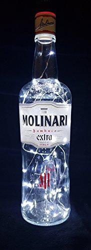 Molinari Sambuca Flaschenlampe mit 80 LEDs Kaltweiß Upcycling Geschenk Idee