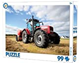 Traktor Puzzle, 99 Teile, ab 3 Jahre geeignet, Größe: 33x22cm, Kinderpuzzle mit einem roten Traktor als Motiv