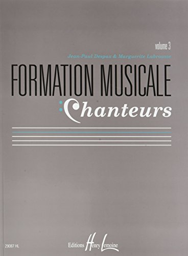 Formation Musicale Chanteurs Vol. 3