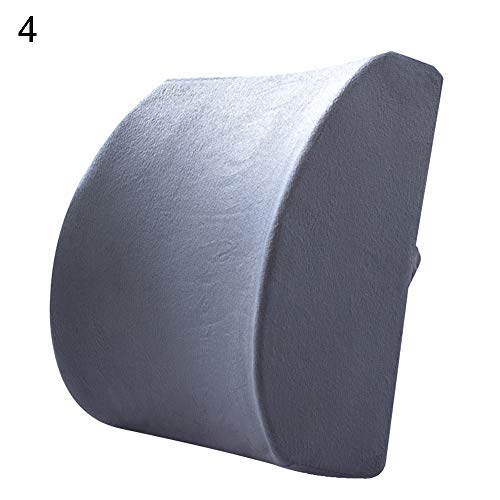 NAttnJf – Asiento de Coche cómodo Silla de Oficina Memory Cotton Transpirable Suave Respaldo Taillenstützkissen Pad