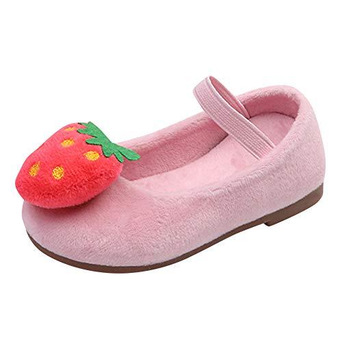 Chaussures bébé, Manadlian Nouveau Née Bébé Fille Semelle Souple Chaussures Brodées Motif de Fraise Fond Plus Velours Baskets Hiver Automne Chaussures