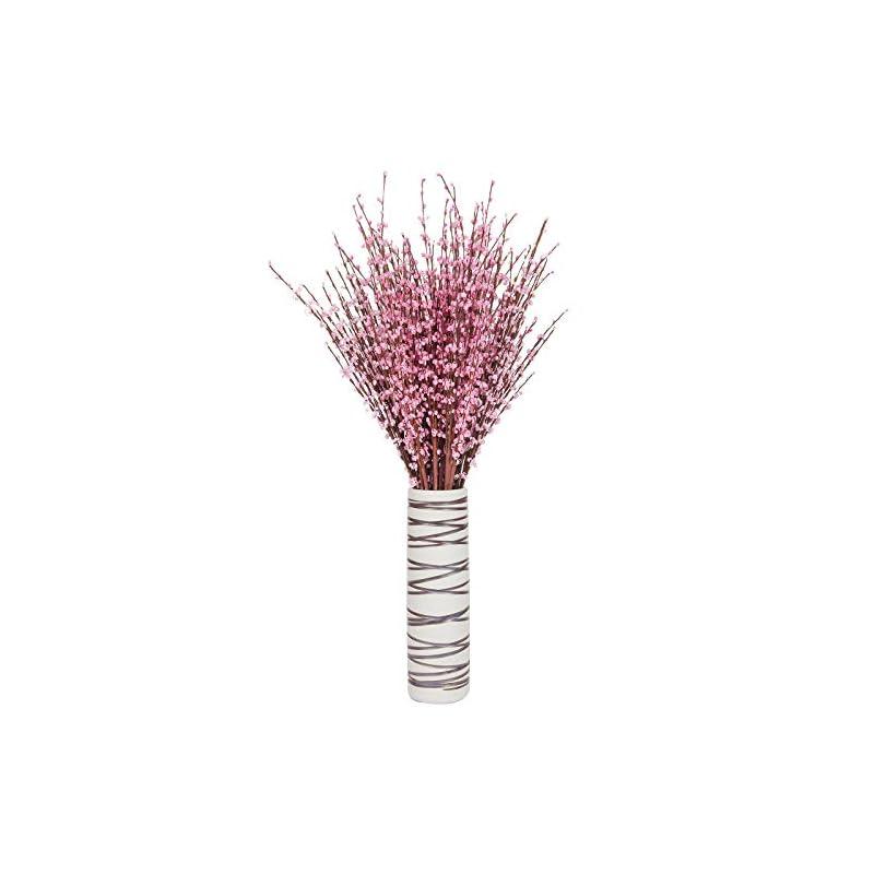 "silk flower arrangements momkids 10 pcs 29.5"" long of artificial flowers fake faux winter jasmine bouquet for hotel stage banquet home office kitchen bathroom wedding party diy decor"