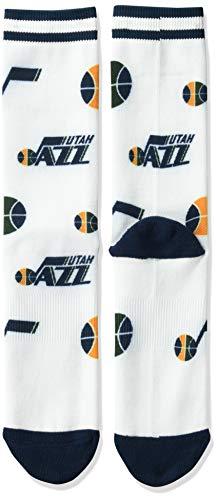 NBA Boston Celtics Mens Panel Crew Socks, Multicolor, Large