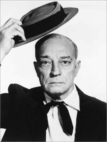 Poster 70 x 90 cm: Buster Keaton von Everett Collection - hochwertiger Kunstdruck, neues Kunstposter
