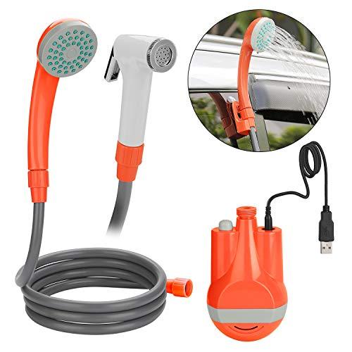 WADEO Douche Mobile, Douche Voyage portative extérieur/intérieur USB chargeant des Pompes de Pomme de Douche Rechargeables de Poche pour la Piscine de Lavage de Voiture de Voyage de Camping