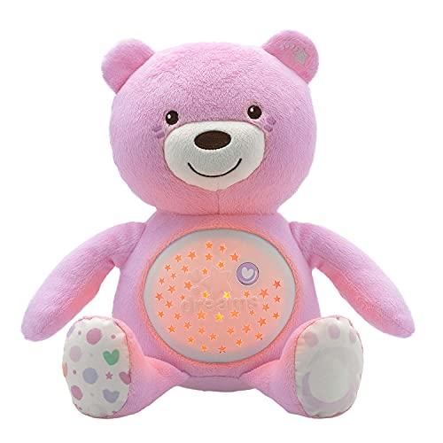 Chicco First Dreams Baby Bär Plüsch-Teddybär, weicher Projektor mit Nachtlicht, Lichteffekten und entspannenden...