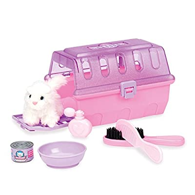 Play Circle by Battat – Pink Cat Grooming Kit – Pretend Play Cat Carrier with Plush Kitten, Brush, Toy Food, and Accessories – Pet Care Set for Kids Ages 2 and Up (7 Pieces)