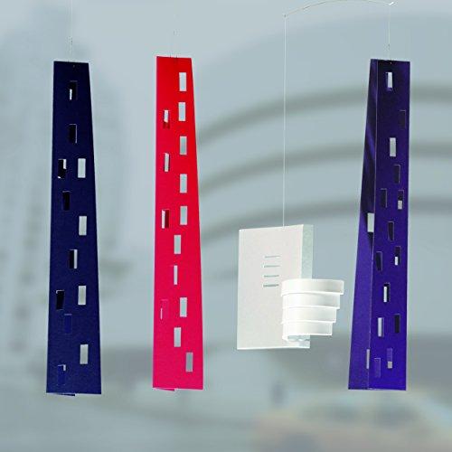 Guggenheim Building Hanging Mobile - 24 Inches - Handmade in Denmark by Flensted