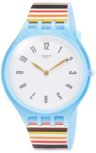 Swatch Reloj Analogico para Mujer de Cuarzo con Correa en Silicona SVUL100