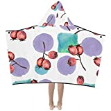 WBSNDB Kids Size Blanket Sweet Sour Hawthorn Fruit Dried Kids Hooded Blanket Bath Towels Throw Wrap for Toddler Child Girl Boy Home Travel Sleep Toddler Blanket with Hood