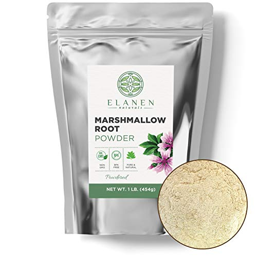 Marshmallow Root Powder 16 oz. (1 lb. Bag), Contains Organic Non-GMO Marshmallow Root in Non-BPA Packaging, Marshmallow Root Powdered, Althaea Officinalis, Marshmallow Herb, Powdered
