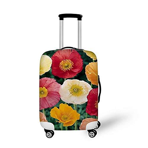 DKISEE Travel Bagage Cover Koffer Bagage Beschermer Wasbare Spandex Bagage Fit voor 18-21 Inch Bagage, Kleurrijke Bloemen