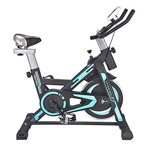 WJFXJQ Girar la Bici, la Bicicleta estática for el hogar Bicicleta estacionaria Cardio Entrenamiento de Resistencia Monitor Digital sensores de frecuencia cardíaca
