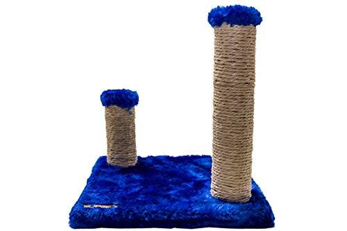 Brinquedo Arranhador Quadrado com Postes Luppet para Gatos Azul