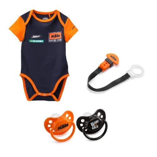 Original KTM Set Baby Body 80 Schnuller Schnullerband 4-teilig