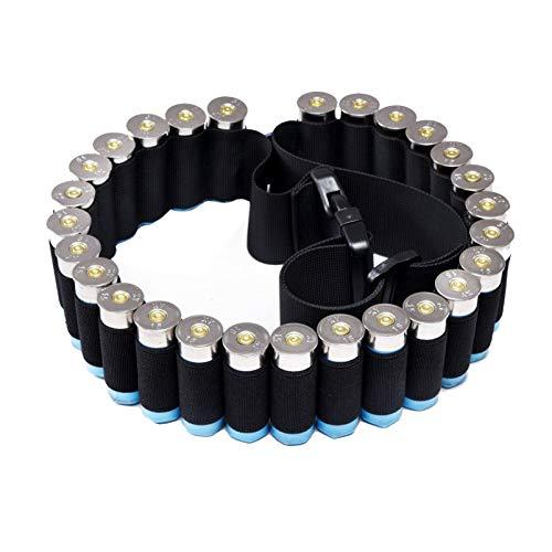 N \ A Soporte de Cartucho de Escopeta - Cinturón de Bandolera de Cartucho de Escopeta Soporte de munición de Calibre 12/20 para Caza (27 Rondas)