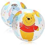 2X Ballo da Spiaggia - Pallone da Spiaggia con i Motivi delle Figure Disney Winnie The Pooh, Tigger e I-Aah - Palloni da Spiaggia per Bambini
