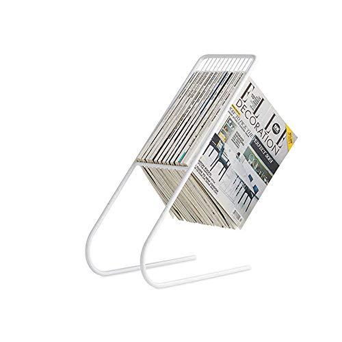 ChenCheng Repassez Votre Porte-revues 20X50cm (Noir, Or, Blanc) sur Un Support de Magazine Multifonctions créatif, au Sol, au Fer nécessité (Color : White)