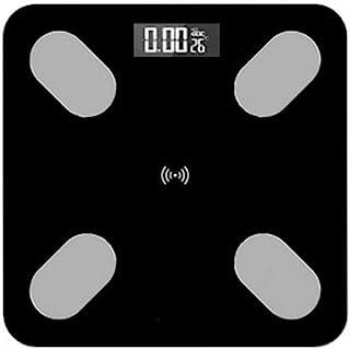 HJTLK Báscula de baño Digital, Báscula de pesaje Báscula de pesaje electrónica, Báscula de baño Báscula de baño, Báscula de Grasa Corporal Máx. 180 kg, Negro