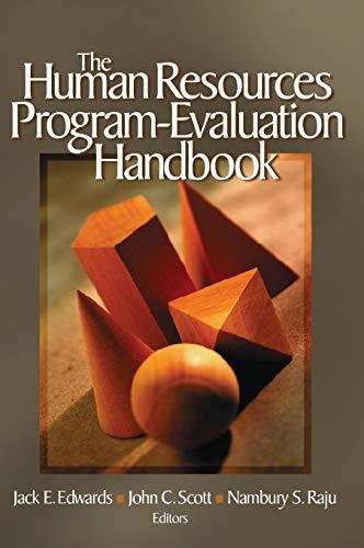 The Human Resources Program-Evaluation Handbook