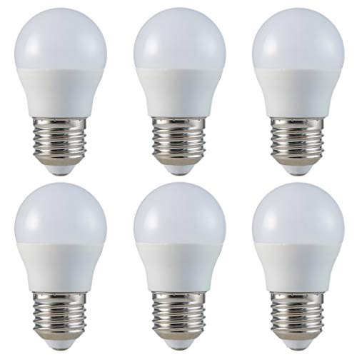 6-er Pack - ZONE LED SET - E27 - G45-5.5W - LED Lampe - Warmweiss (2700K) - 470 Lm - Entspricht 40W - Abstrahlwinkel 180°