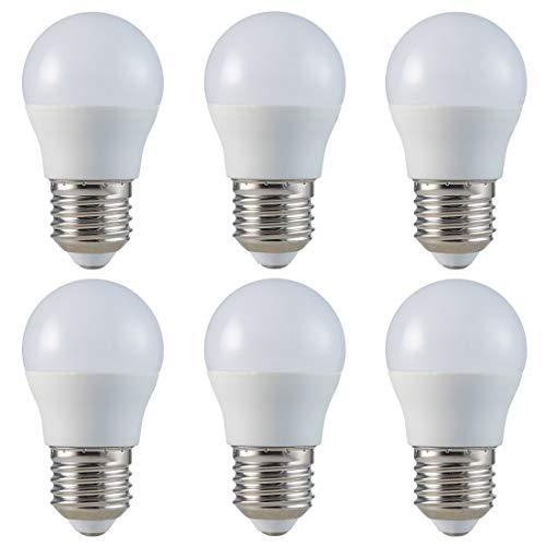 ZONE LED SET - E27 - G45-5.5W - LED Lampe - Tageslicht (4000K) - 470 Lm - Entspricht 40W - Abstrahlwinkel 180° - 6-er Pack
