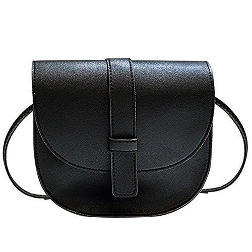 Solid Handbags Dames Crossbody Tassen Korte Mini Messenger Tassen Vrouwen Enkele Schoudertas, Zwart