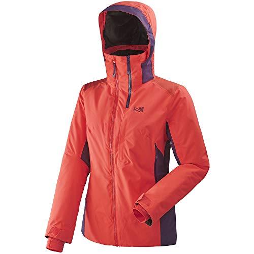 MILLET LD 7/24 Stretch JKT Veste de Ski Femme, Poppy Red/Black Berry, FR : L (Taille Fabricant : L)