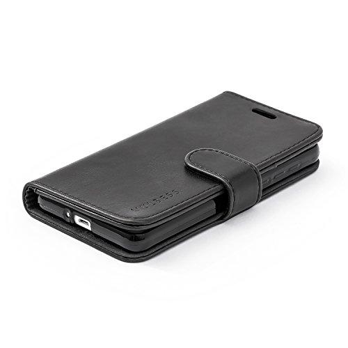 Mulbess Handyhülle für Honor 6 Hülle, Leder Flip Case Schutzhülle für Huawei Honor 6 Tasche, Schwarz - 3