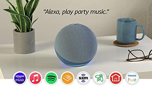Amazon Echo (4th Gen) - Smart Home Hub with Alexa - Twilight Blue
